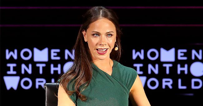 """Barbara Bush Jr. speaks onstage at """"Mother/Daughter Dynasty: Two Generations of the Bush Family"""" during Tina Brown's 7th Annual Women In The World Summit at David H. Koch Theater at Lincoln Center on April 7, 2016 in New York City 