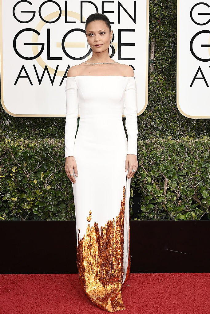 Thandie Newton attends the 74th Annual Golden Globe Awards - Arrivals at The Beverly Hilton Hotel on January 8, 2017 | Photo: Getty Images
