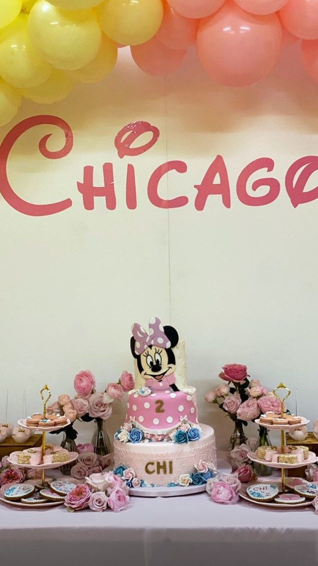 Chicago's 2nd birthday cake decor | Photo: Instagram/ Kylie Jenner