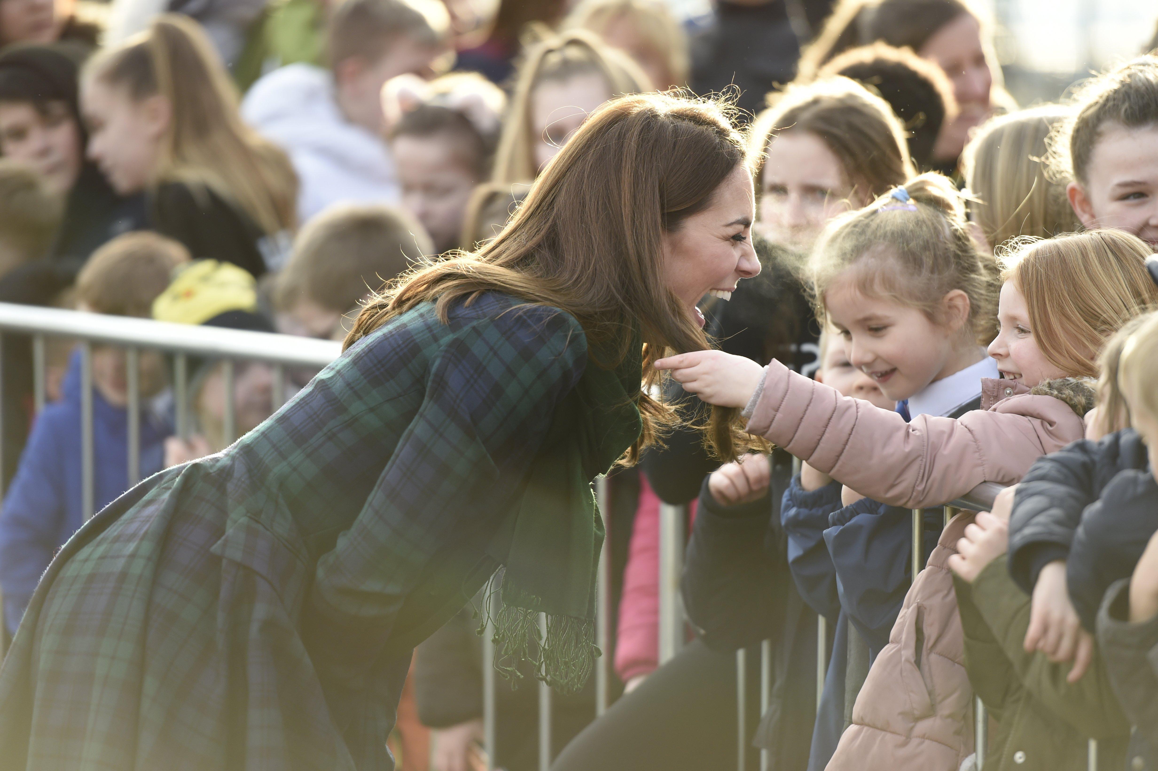 Kate Middleton lors du rassemblement à Dundee l Source: Getty Images