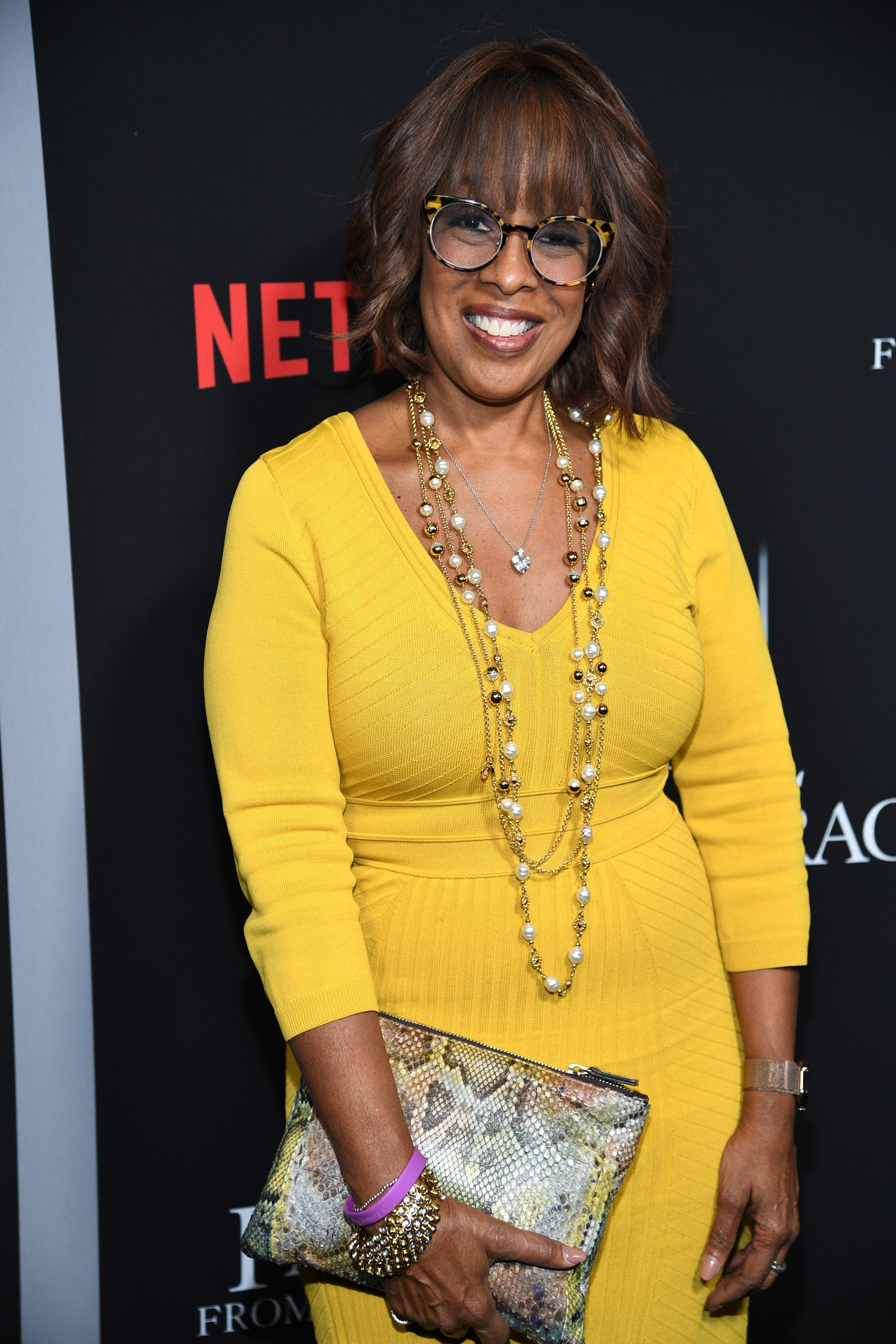 "Gayle King attends the premiere of Tyler Perry's ""A Fall From Grace"" at Metrograph on January 13, 2020 