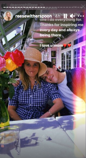 Deacon Phillippe shared a sweet message to celebrate his mom, Reese Witherspoon's birthday. | Photo: Instagram/reesewitherspoon