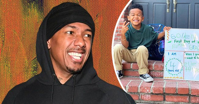 Nick Cannon and his son Golden. | Photo: Instagram.com/missbbell  Getty Images