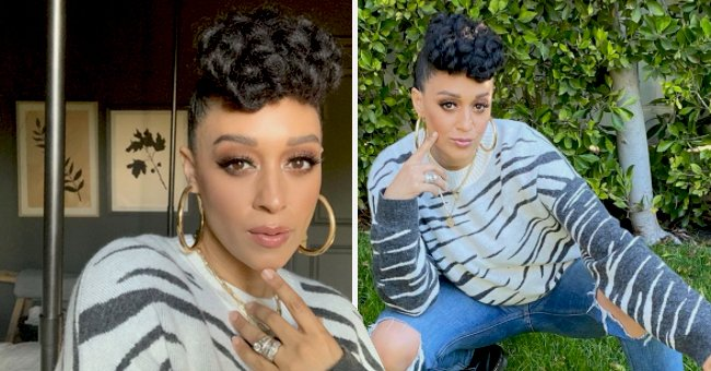 Tia Mowry Flaunts Sparkling & Expensive Rings Posing in Stunning Makeup in a Selfie