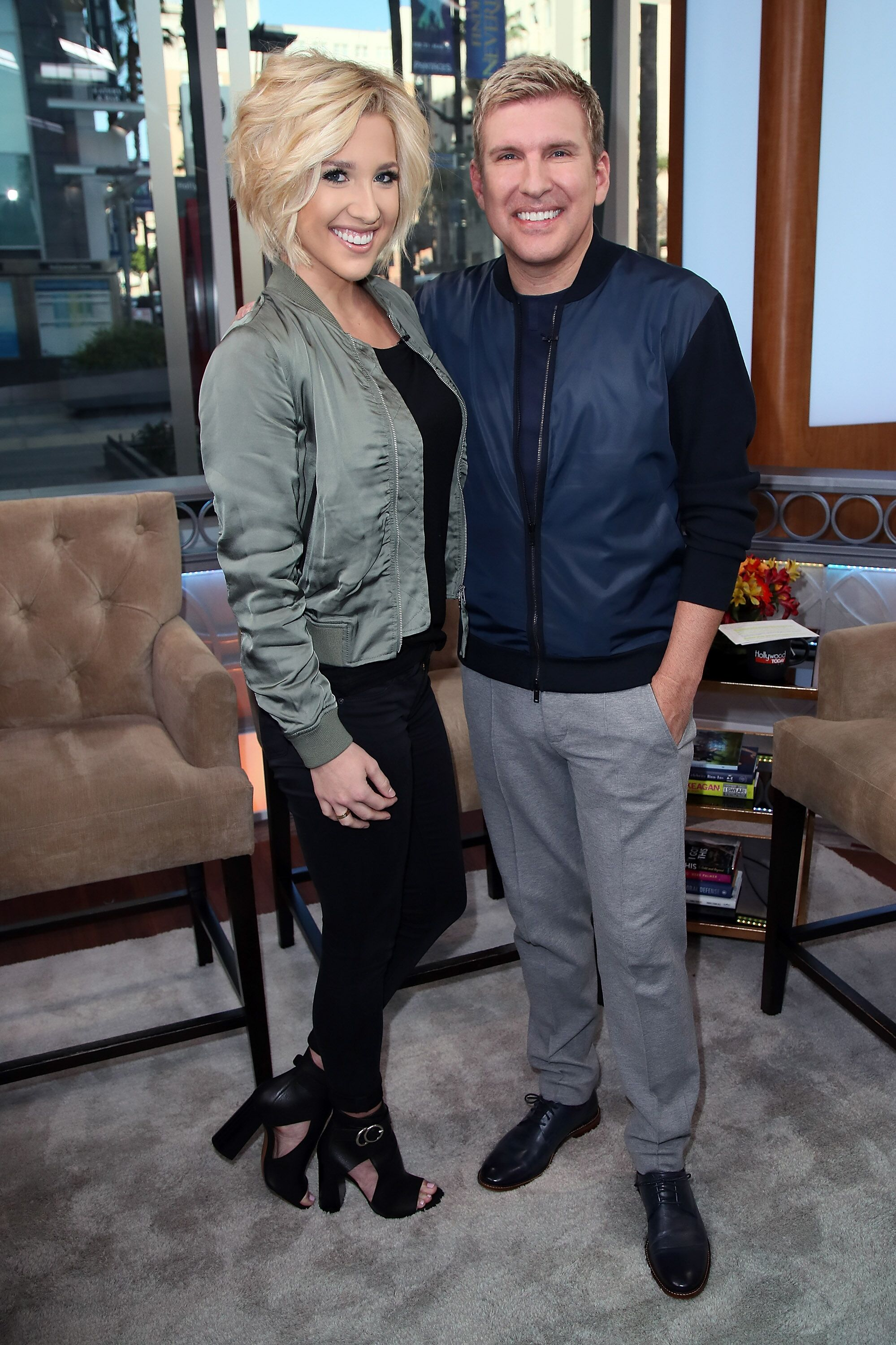 Savannah Chrisley and Todd Chrisley visit Hollywood Today Live.   Source: Getty Images