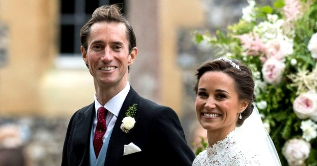James Matthews and Pippa Middleton on their wedding day, Englefield, England. 2017.   Photo: Getty Images