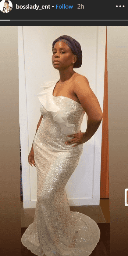 Screenshot of Snoop Dogg's wife Shante Broadus in her one-shoulder dress | Photo: Instagram/bosslady_ent