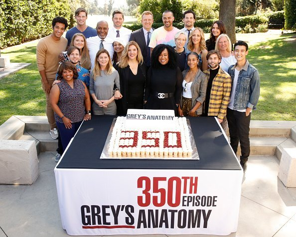 "The stars and executive producers of ABC's ""Grey's Anatomy"" along with President of ABC Entertainment, Karey Burke, in Los Angeles on Tuesday, October 15, 2019. 