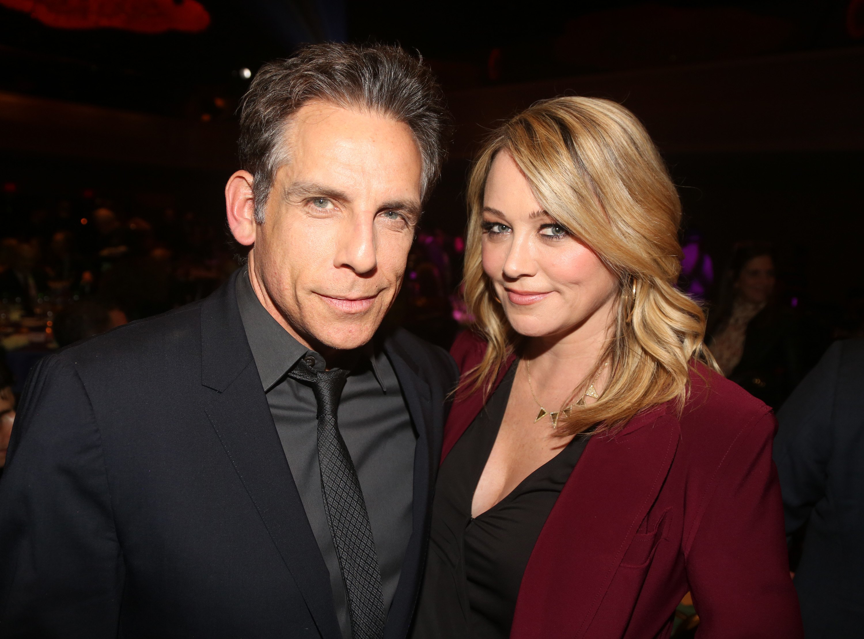 Ben Stiller and Christine Taylor pose at the 2019 Rosie's Theater Kids Fall Gala at The New York Marriott Marquis on November 18, 2019 | Photo: Getty Images