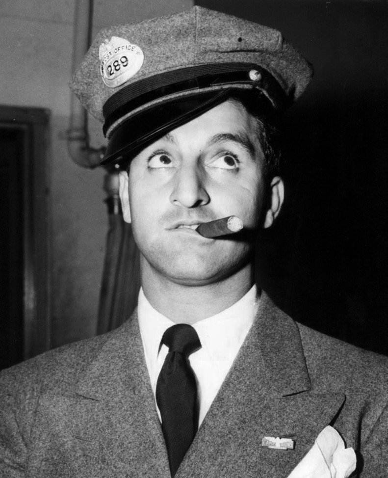 "Danny Thomas as Jerry Dingle from the ""Baby Snooks"" radio show. 