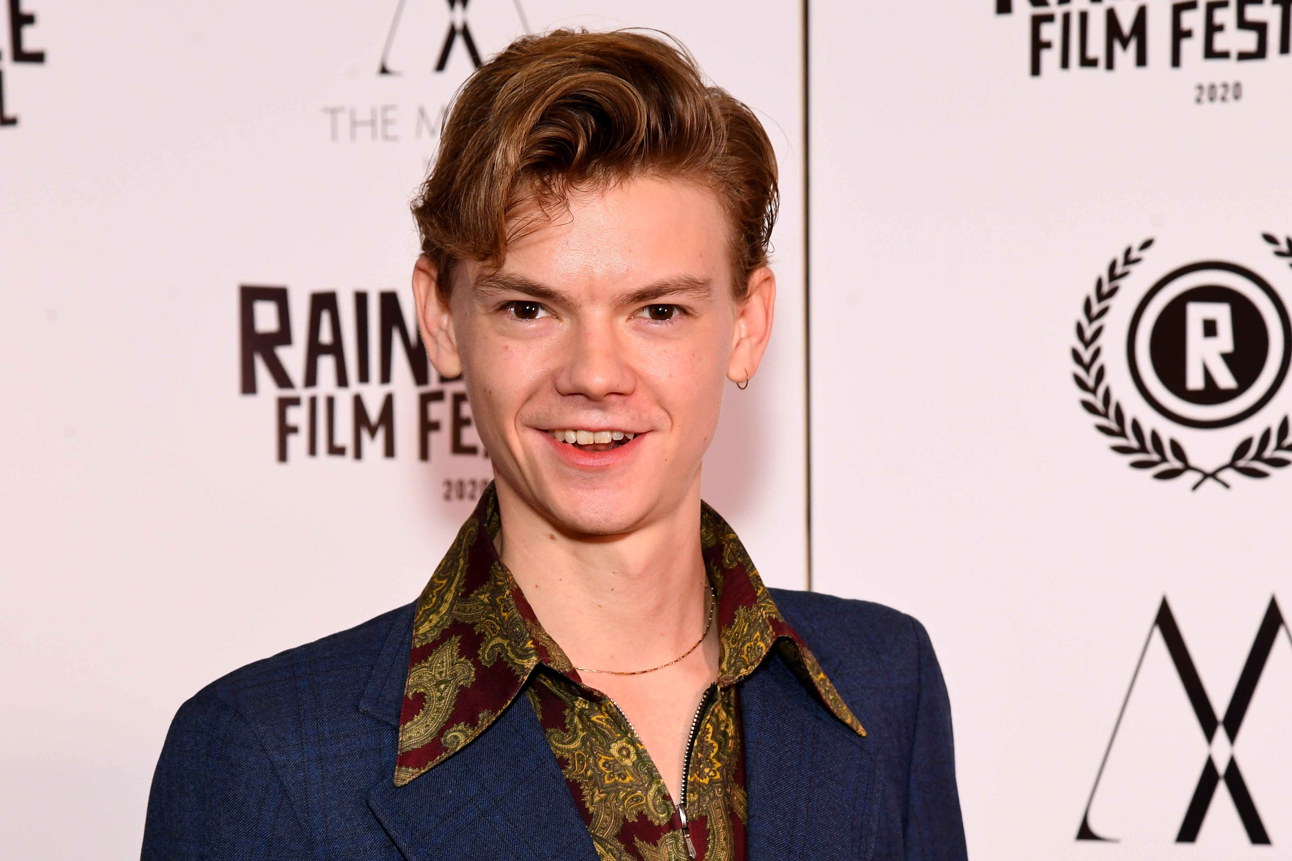 """Thomas Brodie Sangster attends the """"Stardust"""" Opening Film & UK Premiere during the 28th Raindance Film Festival at The May Fair Hotel on October 28, 2020 