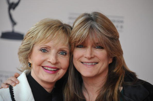 Florence Henderson and Susan Olsen poses for a picture at the Television Academy's Diversity Committee's Second Annual LGBT Event at the Leonard H. Goldenson Theatre on June 11, 2009, in North Hollywood, California. | Source: Getty Images