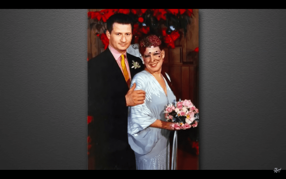 Bette Midler and Martin Von Haselberg at their wedding in 1984, Las Vegas. | Photo: Youtube/Jimmykimmellive