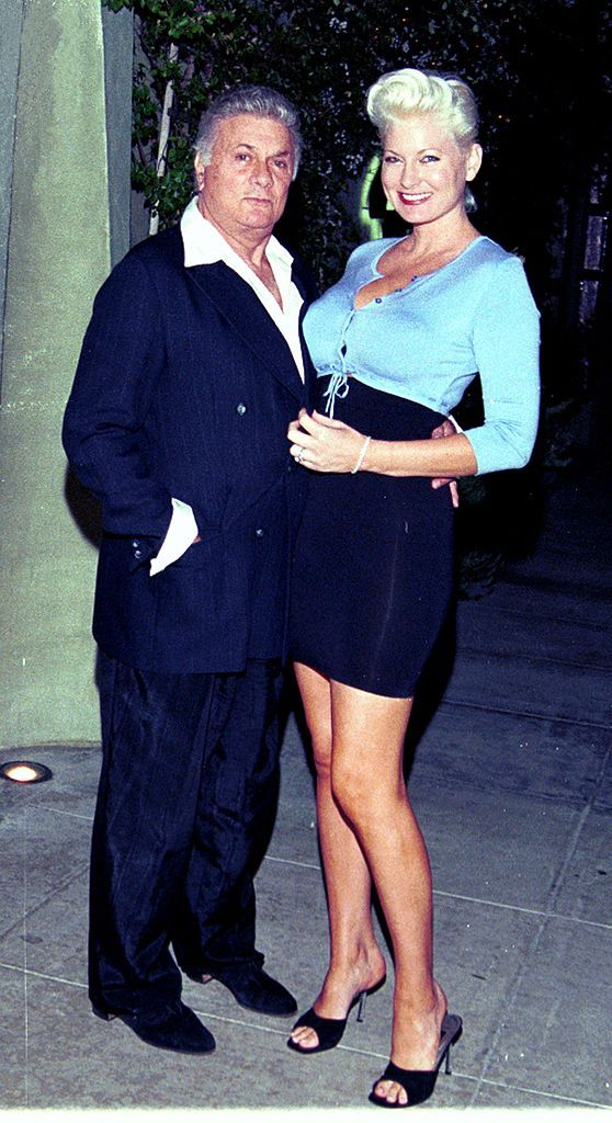 Tony Curtis with his wife, Jill Vandenberg outside Spago restaurant in Los Angeles | Source: Getty Images