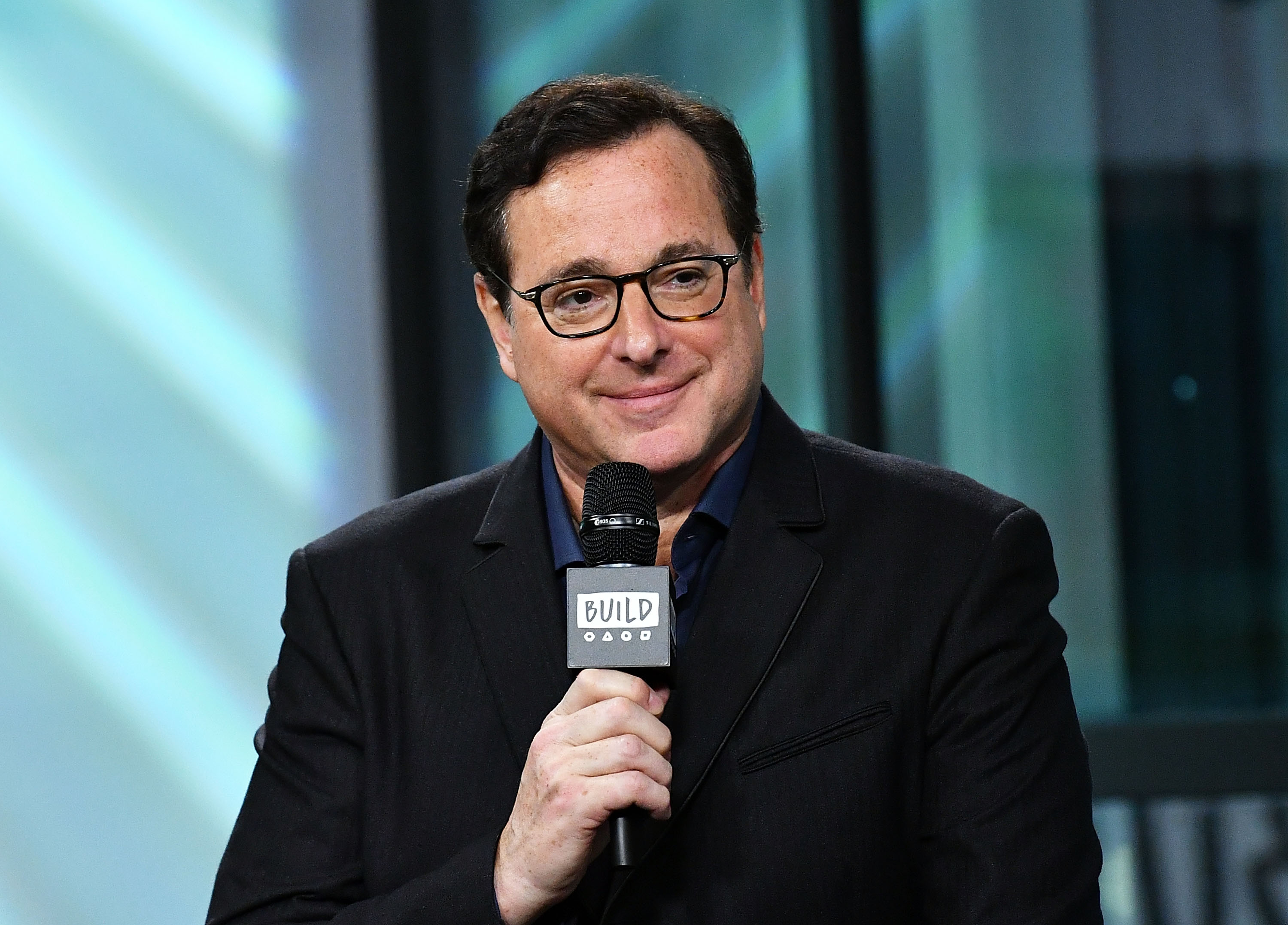 "Bob Saget visits Build to chat about the new season of ""Fuller House"" at Build Studio on September 18, 2017, in New York City. 