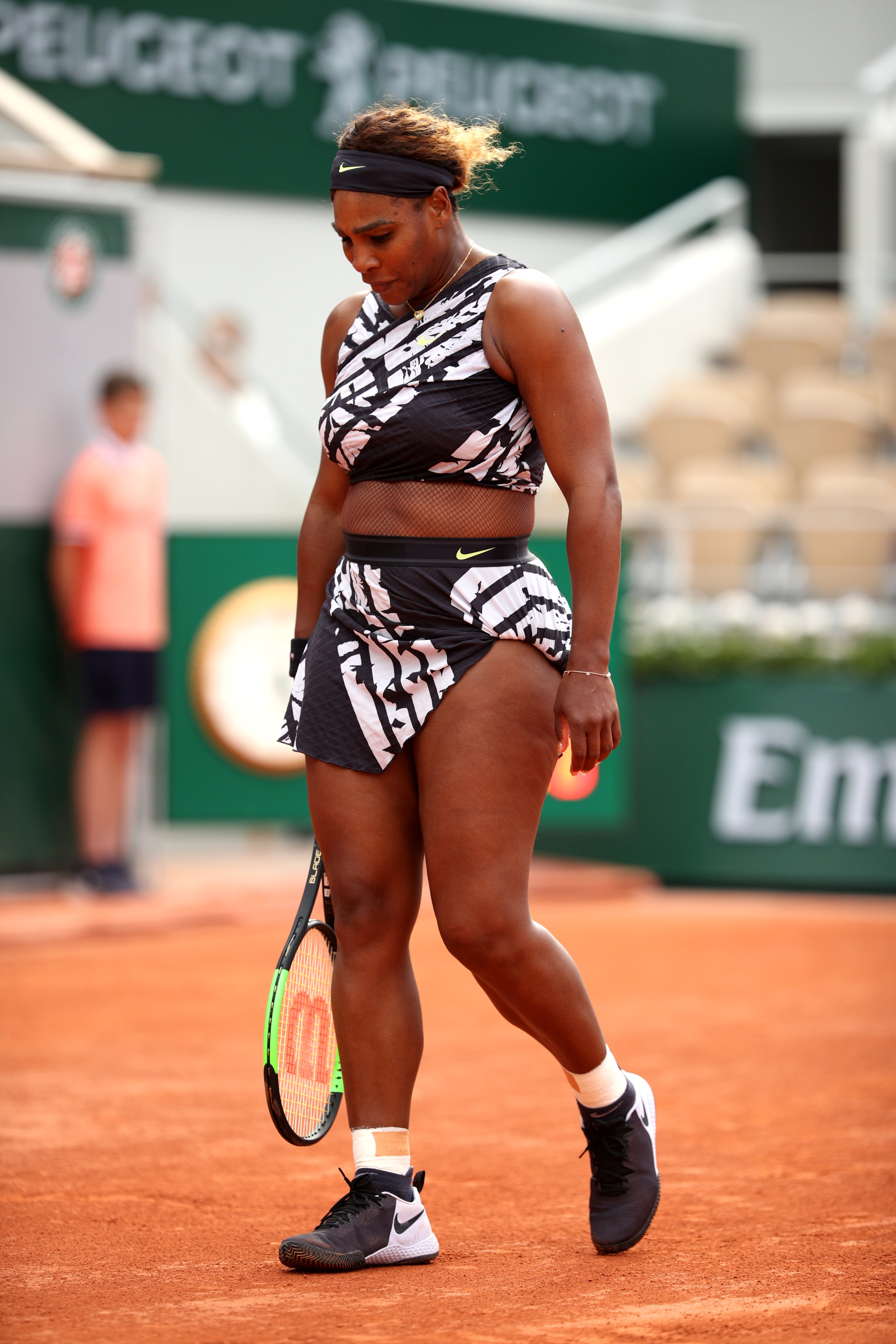 Serena Williams at the 2019 French Open at Roland Garros on May 27, 2019 in Paris, France. |Photo: Getty Images