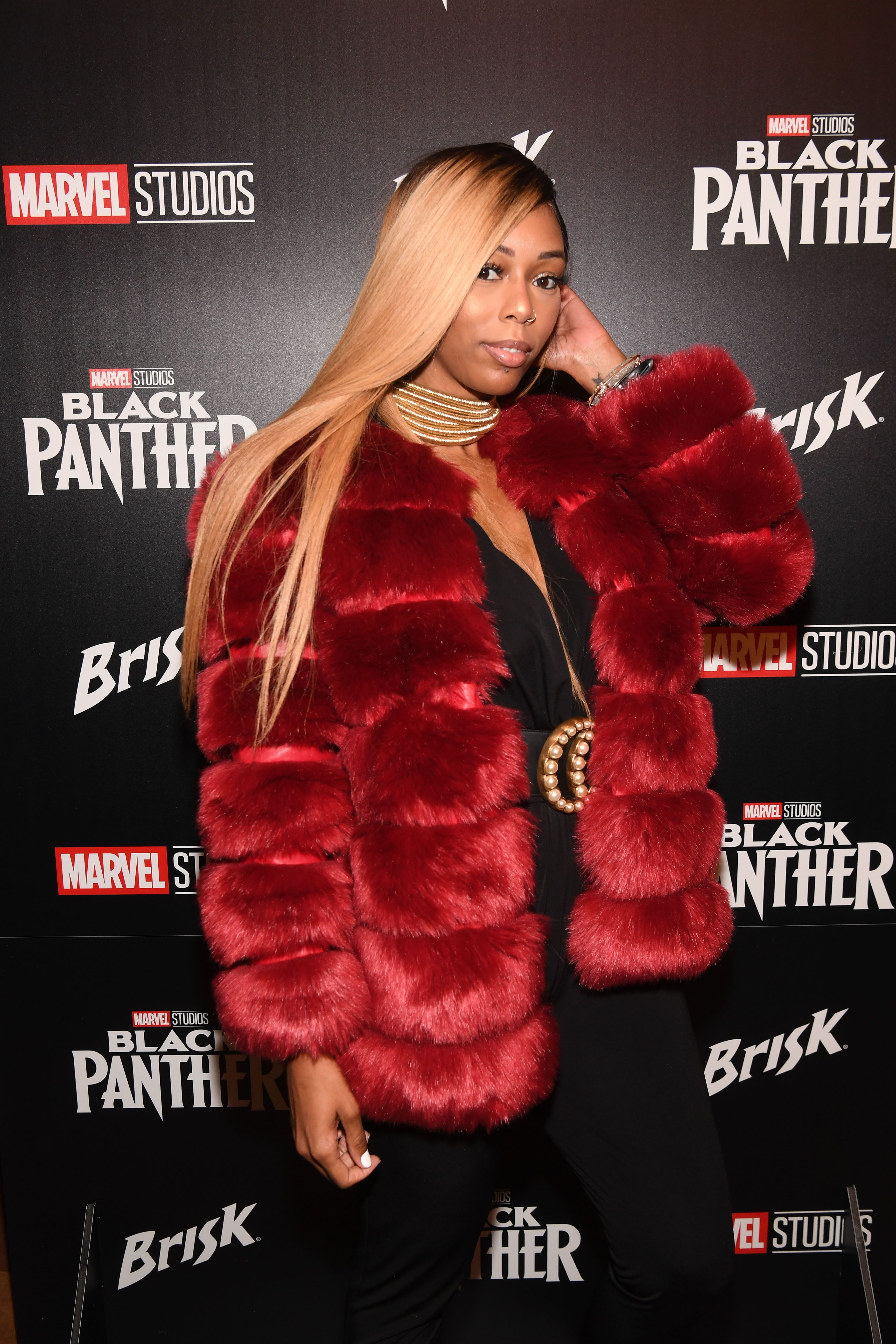 """Bambi Benson at the """"Black Panther"""" advanced screening & panel discussion on February 14, 2018 in Atlanta.   Photo: Getty Images"""