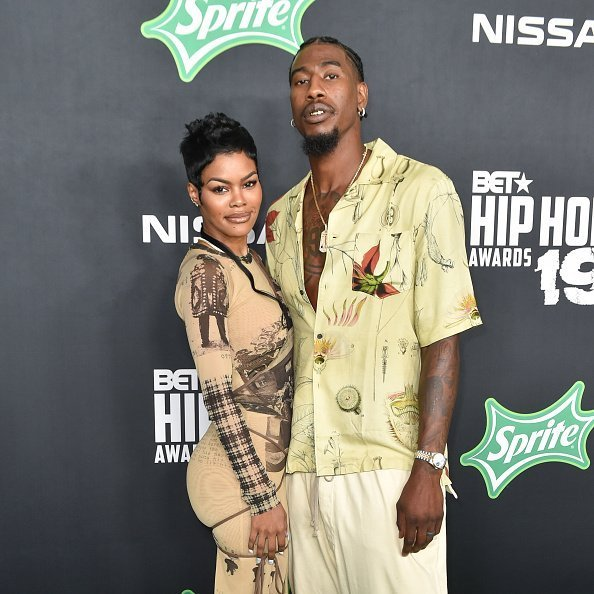 Teyana Taylor and Iman Shumpert arrive to the 2019 BET Hip Hop Awards on October 05, 2019 in Atlanta, Georgia. | Photo: Getty Images