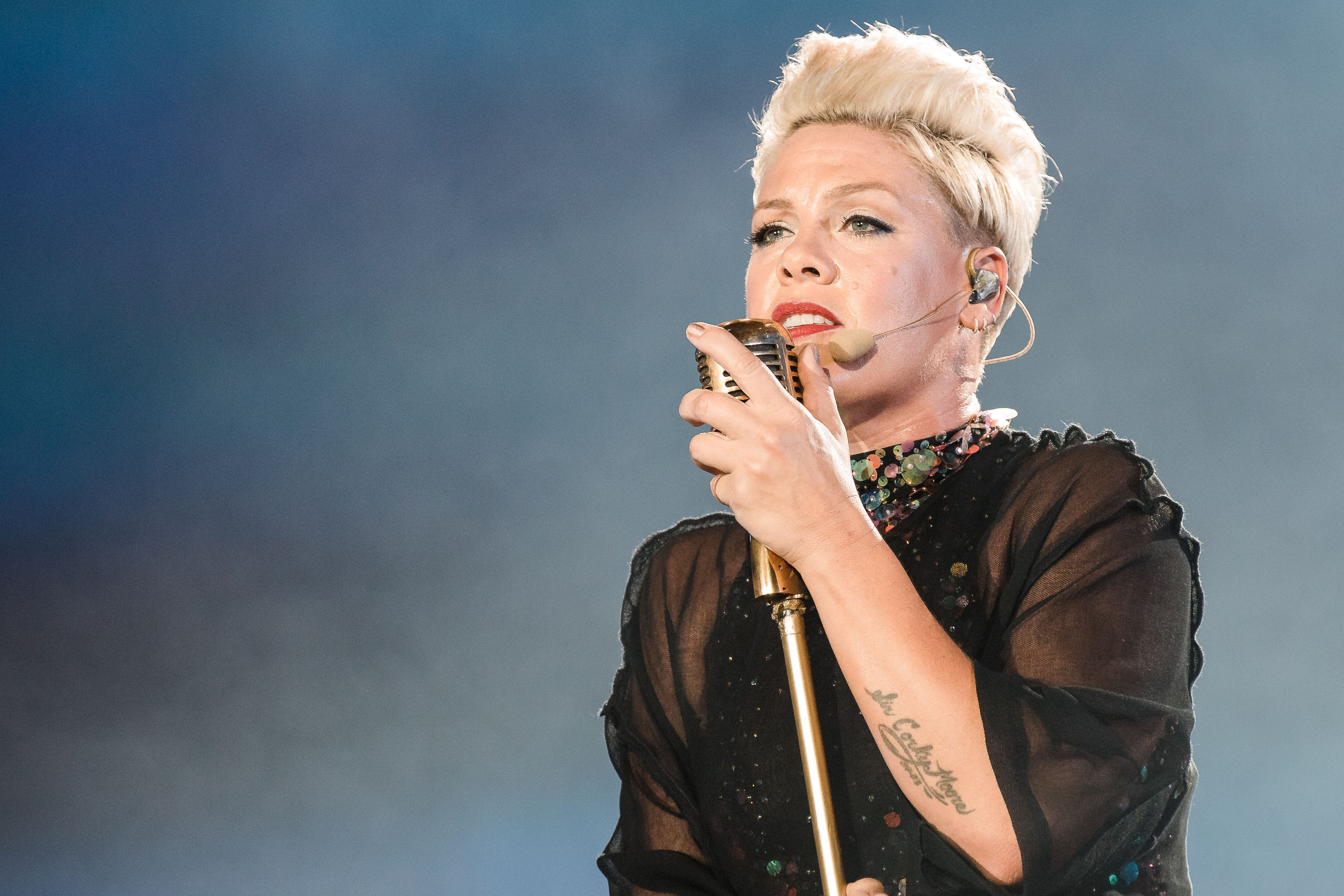 P!nk performs live on stage at day 6 of Rock In Rio Music Festival at Cidade do Rock on October 5, 2019 | Photo: Getty Images
