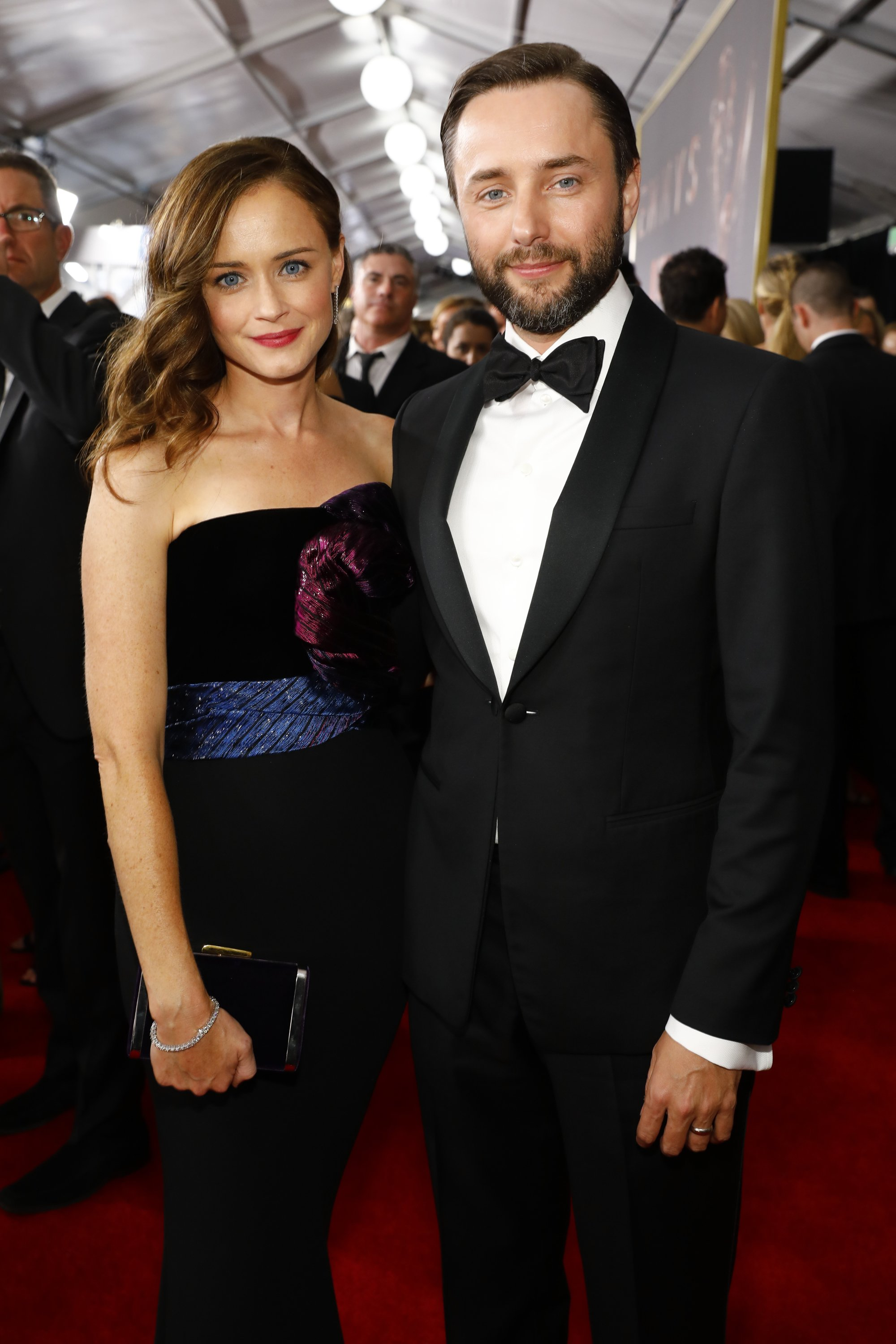 Alexis Bledel and Vincent Kartheiser at the 69th Primetime Emmy Awards | Photo: Getty Images