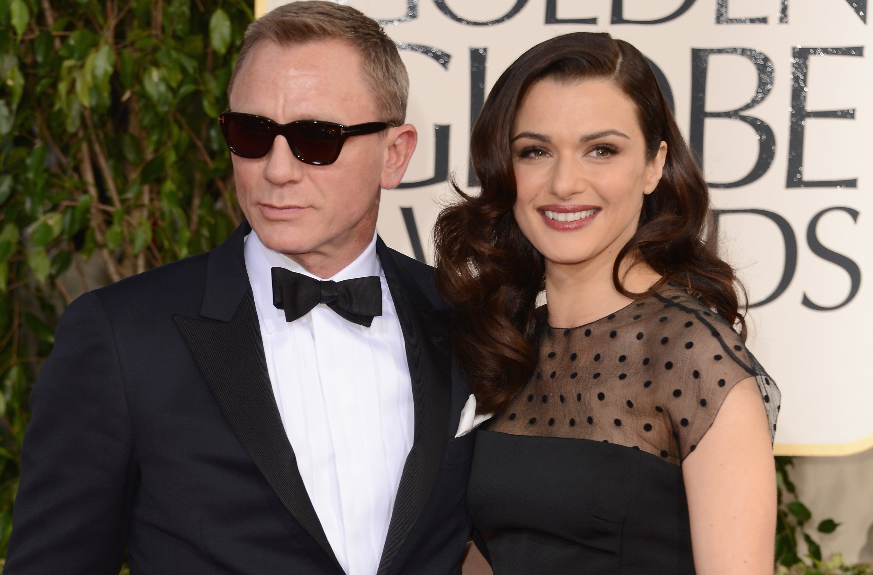 Actors Daniel Craig and Rachel Weisz arrive at the 70th Annual Golden Globe Awards held at The Beverly Hilton Hotel on January 13, 2013 in Beverly Hills, California. | Source: Getty Images