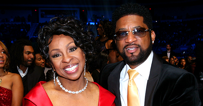 Gladys Knight Poses with Husband William McDowell in Glittery Golden Dress