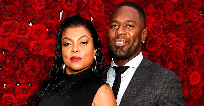Taraji P Henson of 'Empire' Stuns in Feather-Trimmed Gown on the Red Carpet with Fiancé Kelvin Hayden