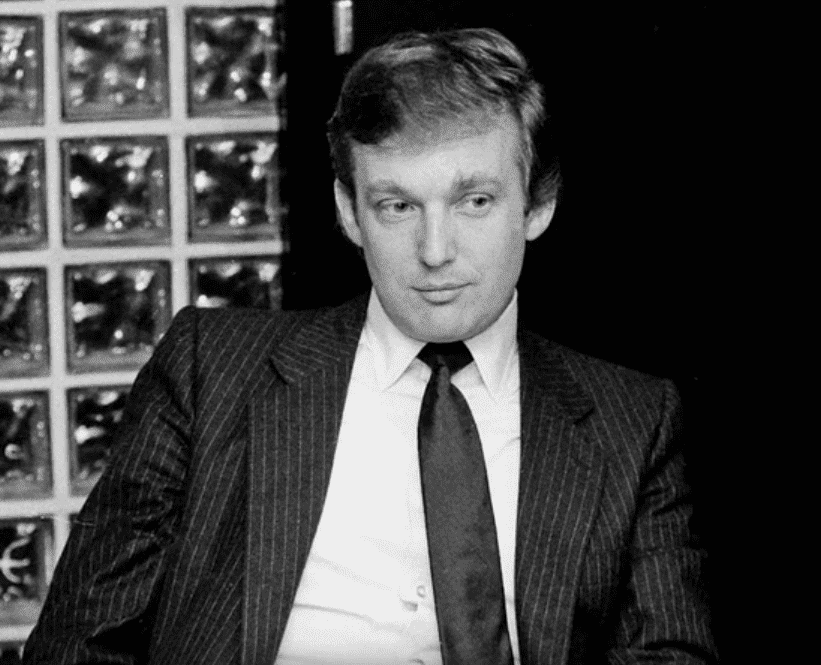 A younger Donald Trump. I Image: YouTube/ Business Insider.