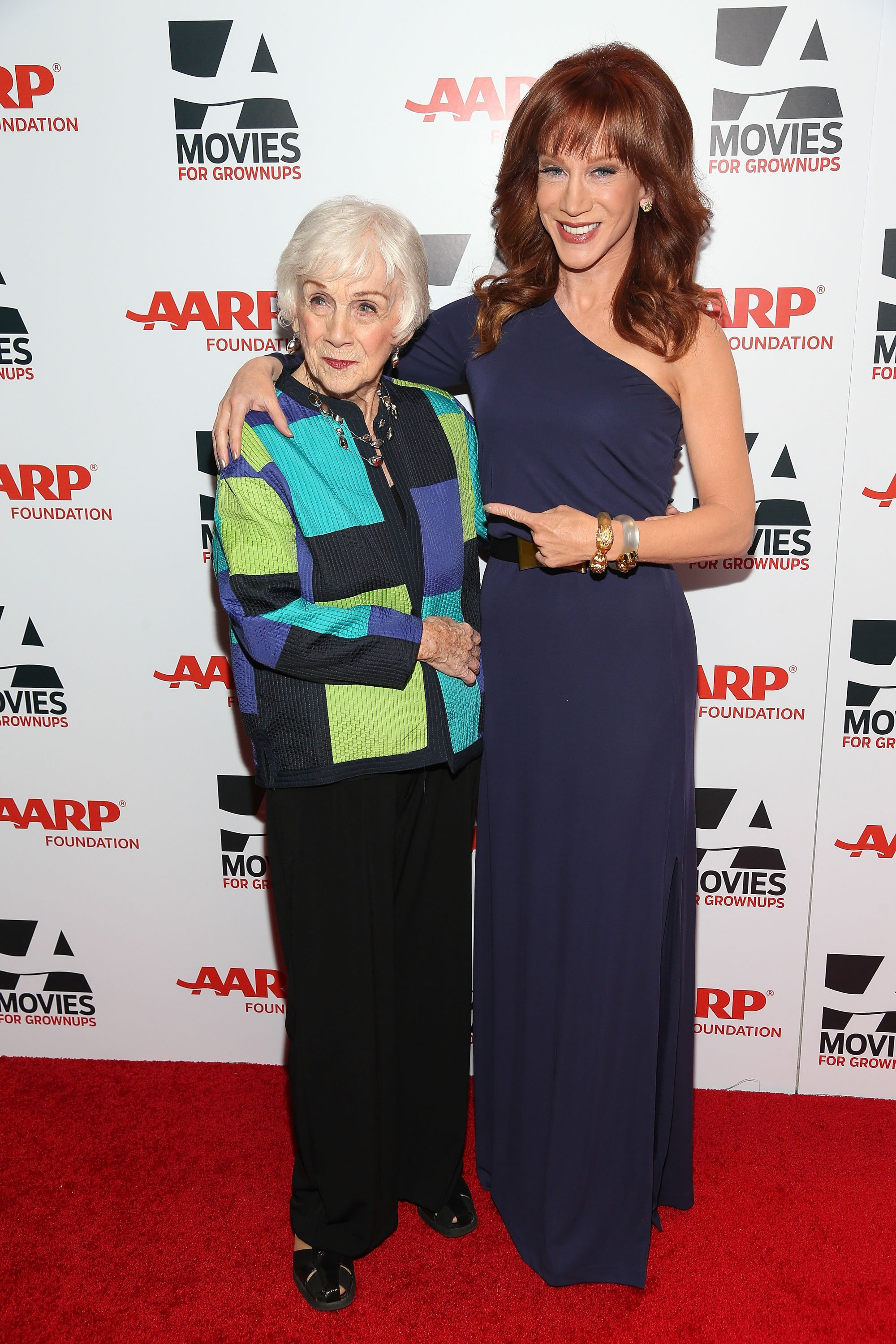 Kathy Griffin and her mother, Maggie, attend the 13th Annual AARP's Movies For Grownups Awards Gala at Regent Beverly Wilshire Hotel on February 10, 2014. | Source: Getty Images