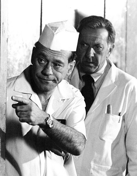 """Jack Klugman and Wynn Irwin from the television drama """"Quincy M. E.."""" 