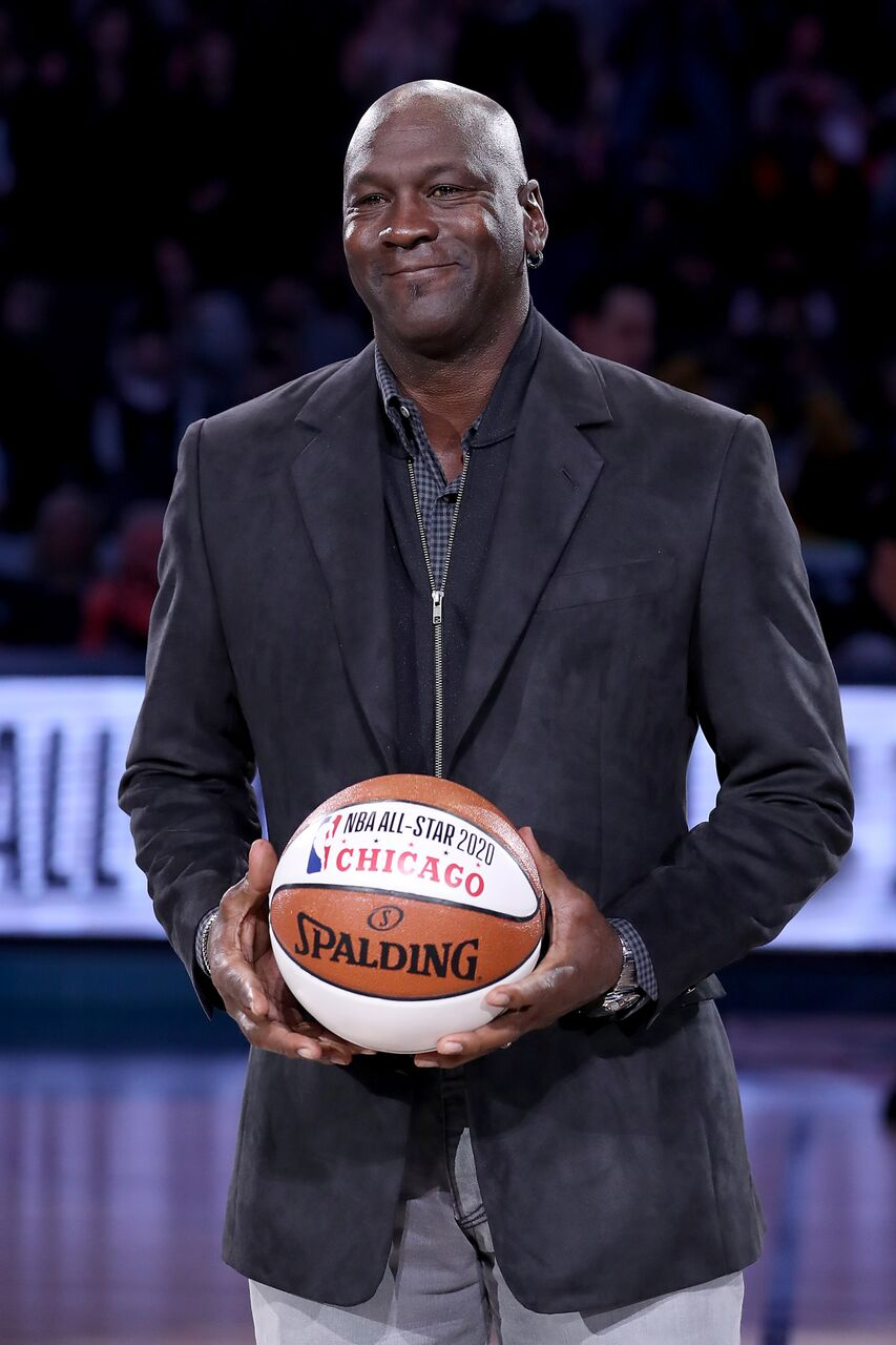 Michael Jordan, owner of the Charlotte Hornets, takes part in a ceremony honoring the 2020 NBA All-Star game. | Source: Getty Images