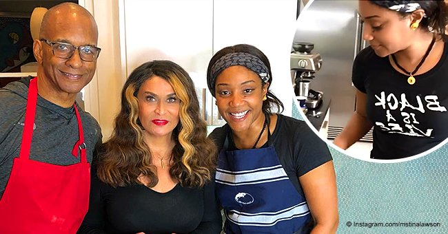 Beyoncé's mom Tina Lawson bakes biscuits with Tiffany Haddish after 'who bit Beyoncé' controversy