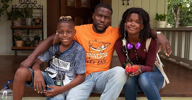 Kevin Hart's Older Kids Hendrix & Heaven Spend Quality Time with Him on Set in New Photos