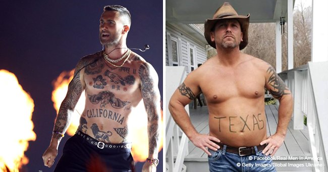 American Men Mock Adam Levine's Bizarre Tattoos, and Their Hilarious Photos Are Going Viral
