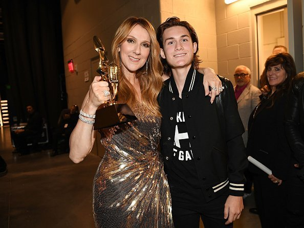 Celine Dion and Rene-Charles Angelil at the T-Mobile Arena on May 22, 2016 in Las Vegas, Nevada | Photo: Getty Images