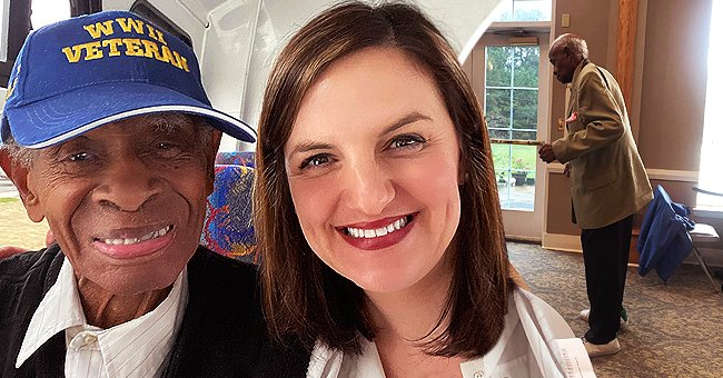 Brooke O'Briant pictured with the late Mr. Nathaniel Hudson.   Photo: facebook.com/Brooke O'Briant