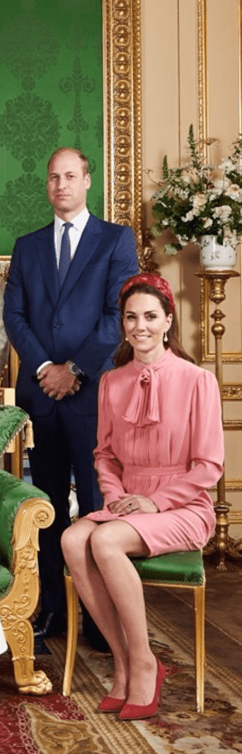 William and Kate pose for a family portrait on the occasion of Archie's Christening. | Source: Instagram/SussexRoyal
