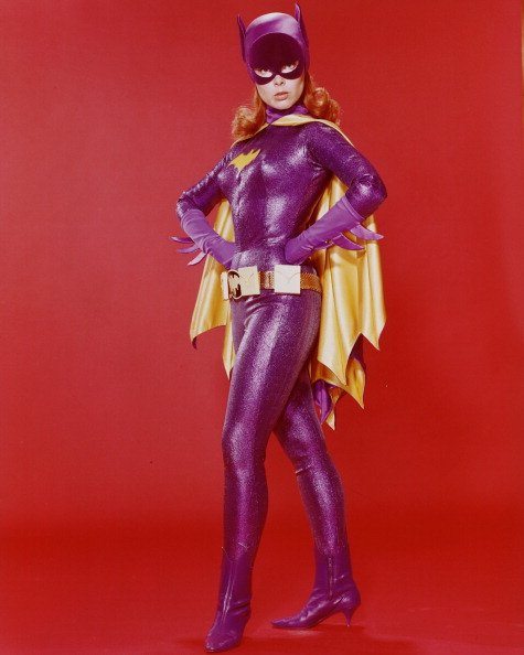 "Yvonne Craig in costume as publicity for the television series, ""Batman,"" circa 1967. 