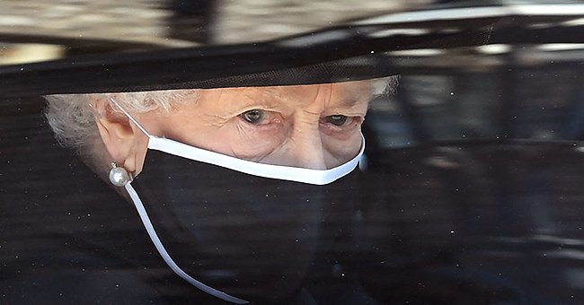 Queen Elizabeth Appears to be in Deep Mourning As She Arrives At Late Husband Prince Philip's Funeral