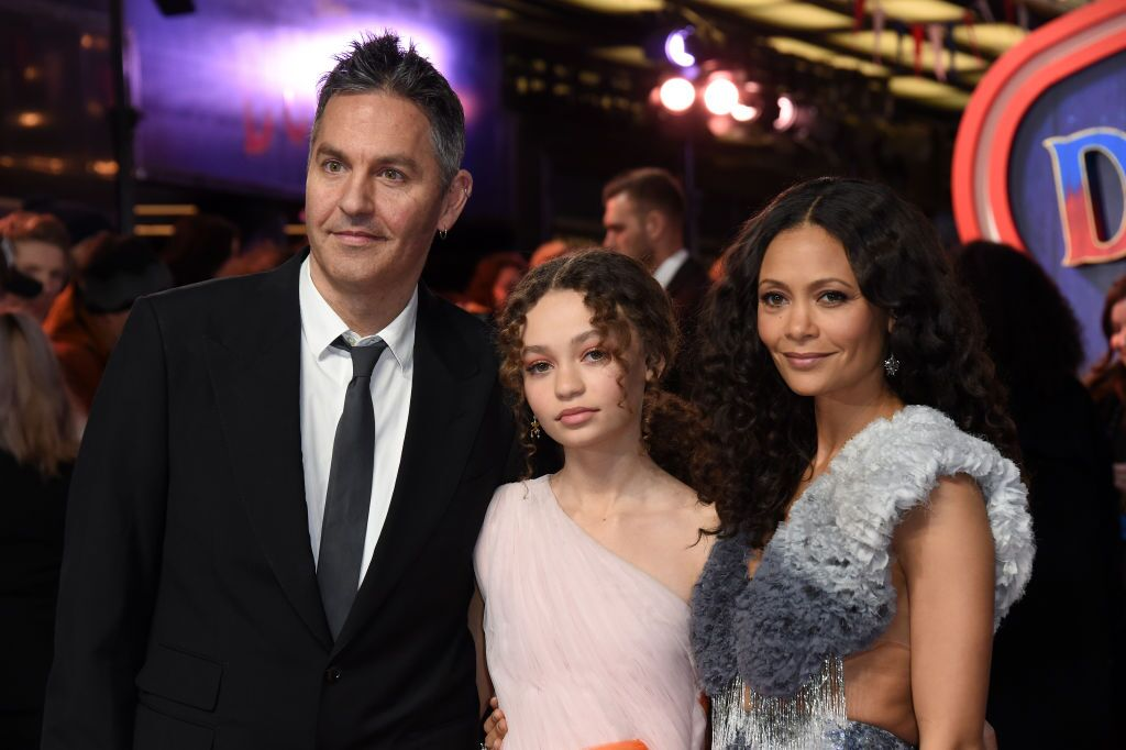 """Ol Parker, Nico Parker, and Thandie Newton at the """"Dumbo"""" premiere   Source: Getty Images/GlobalImagesUkraine"""
