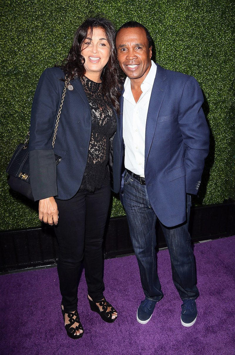 Sugar Ray Leonard and wife Bernadette Robi attend the HollyRod Foundation's 16th Annual DesignCare at The Lot Studios on July 19, 2014 in Los Angeles, California. | Source: Getty Images