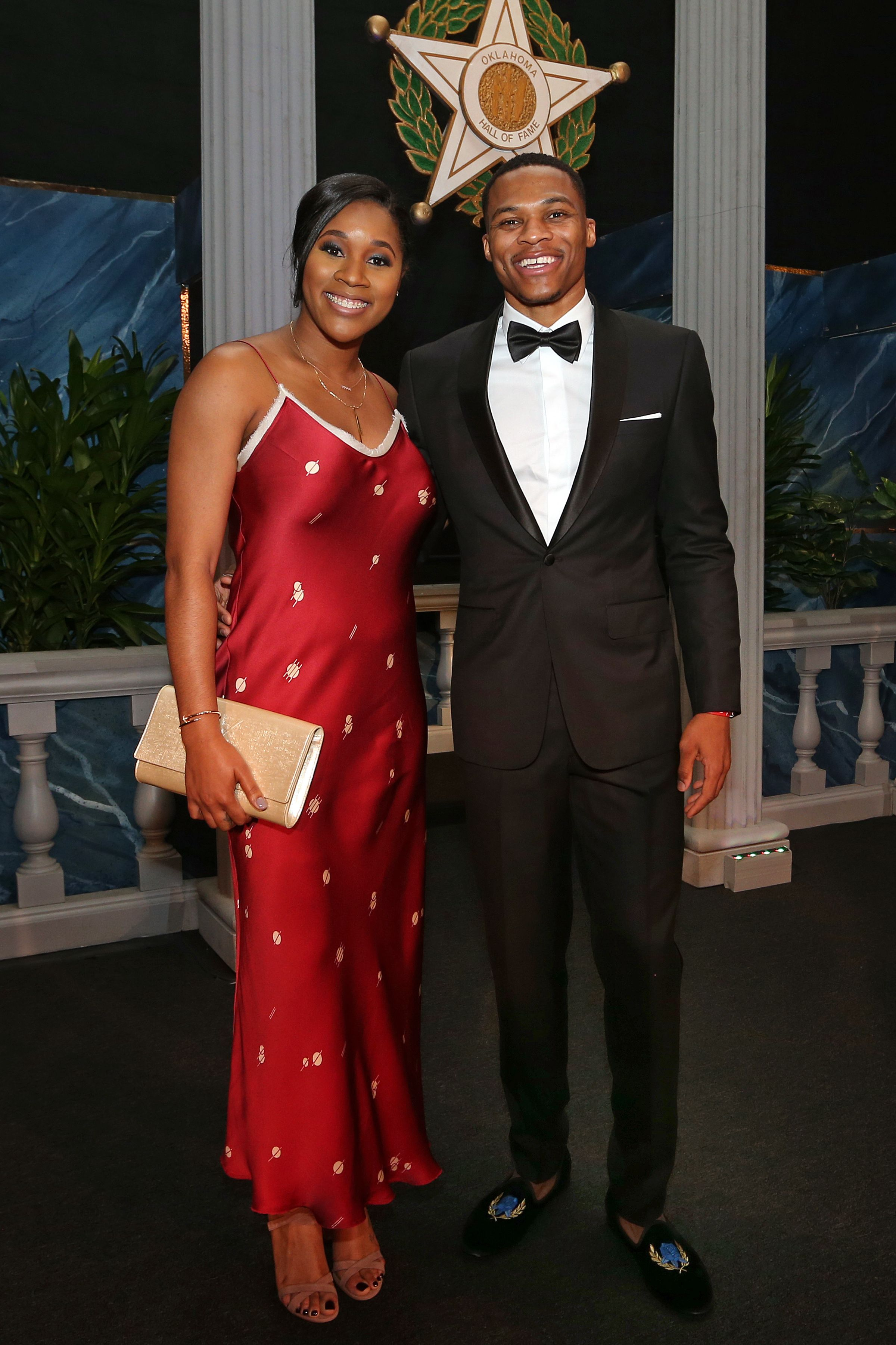 Russell Westbrook with his wife, Nina Ann-Marie Westbrook on November 17, 2016 at the Cox Convention Center in Oklahoma City, Oklahoma. | Source: Getty Images