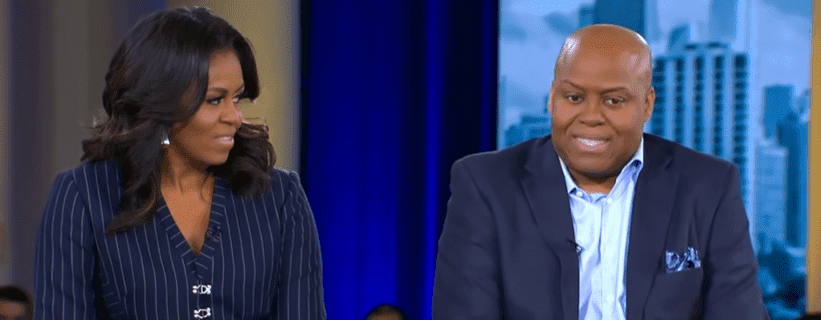 "Former first lady Michelle Obama and her brother Craig Robinson talk about their bond on ""Good Morning America."" 