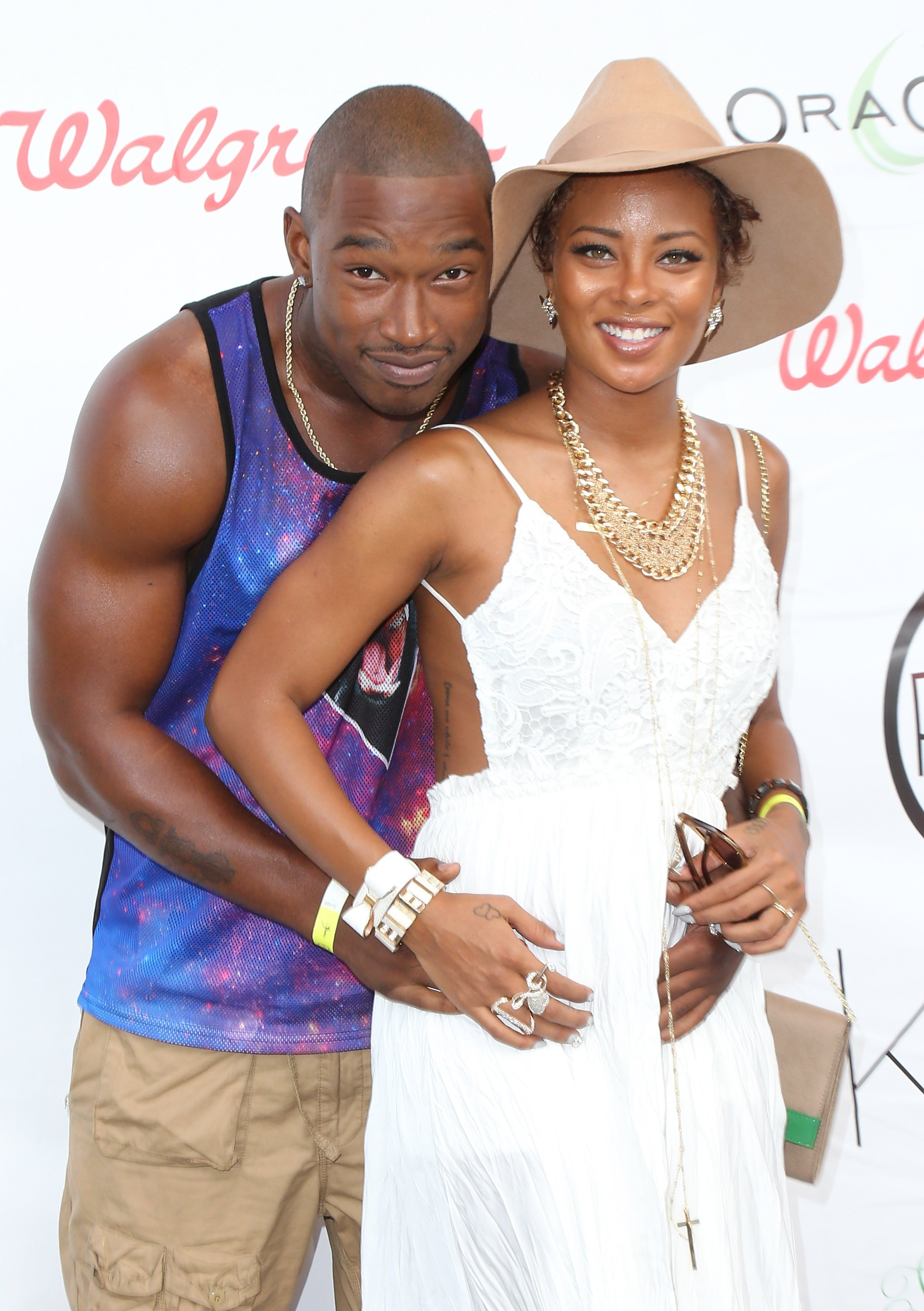 "Kevin McCall & Eva Marcille at the 11th Annual ""Sunshine Beyond Summer"" celebration at a private residence on Aug. 31, 2013 in California 