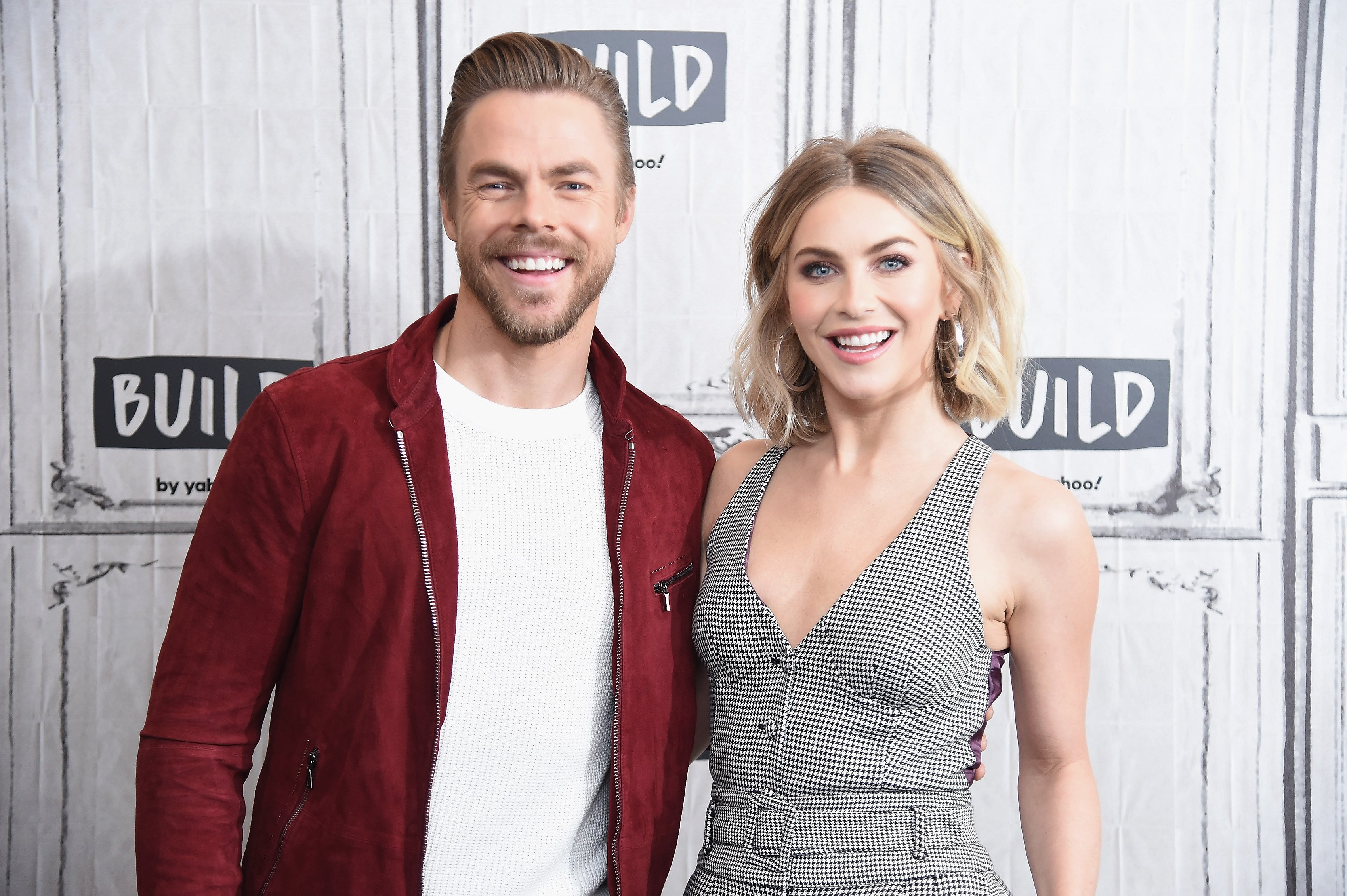 """Derek Hough and Julianne Hough visit the Build Series to discuss the NBC special """"Holidays with the Houghs"""" at Build Studio on December 03, 2019 