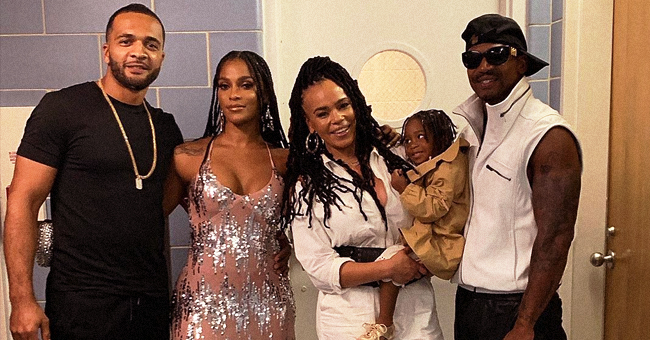Joseline Hernandez & Stevie J Are All Smiles in Pic with Daughter Bonnie in Faith Evans' Arms