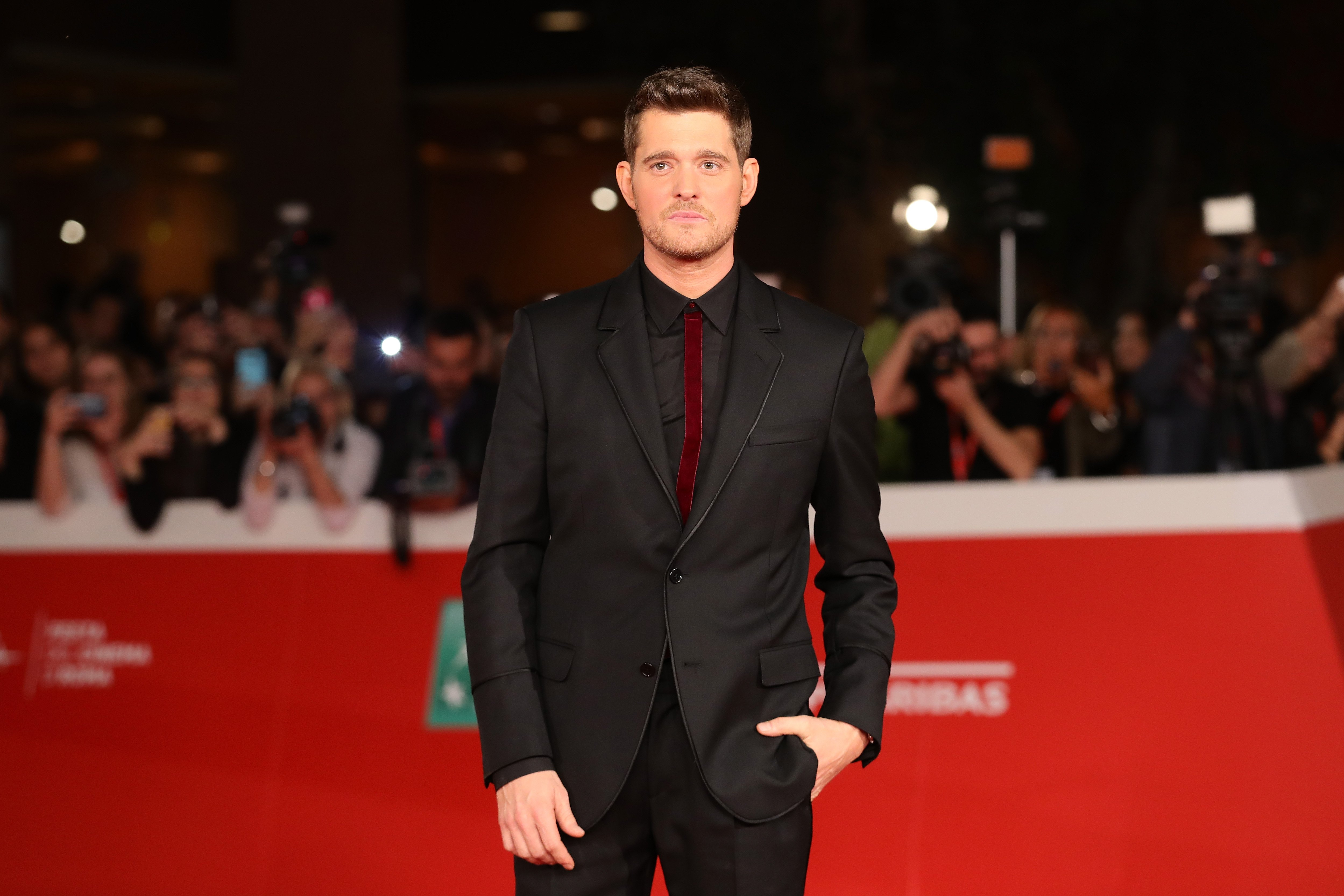 Michael Buble walks a red carpet for 'Tour Stop 148' during the 11th Rome Film Festival at Auditorium Parco Della Musica on October 14, 2016 in Rome, Italy | Photo: Getty Images