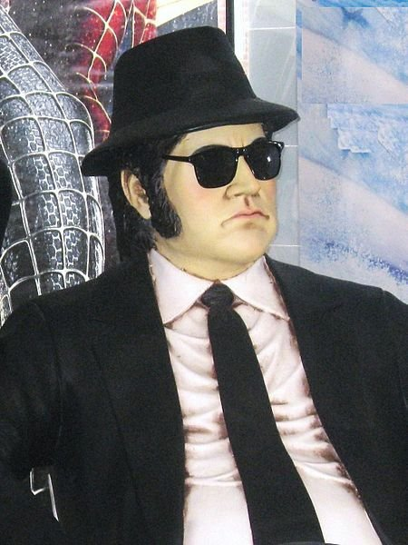 A vision of Jake Blues (John Belushi), The Blues Brothers. | Source: Wikimedia Commons
