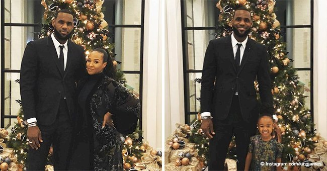 LeBron James grabs attention with adorable photos of his 'lady loves' by a Christmas tree
