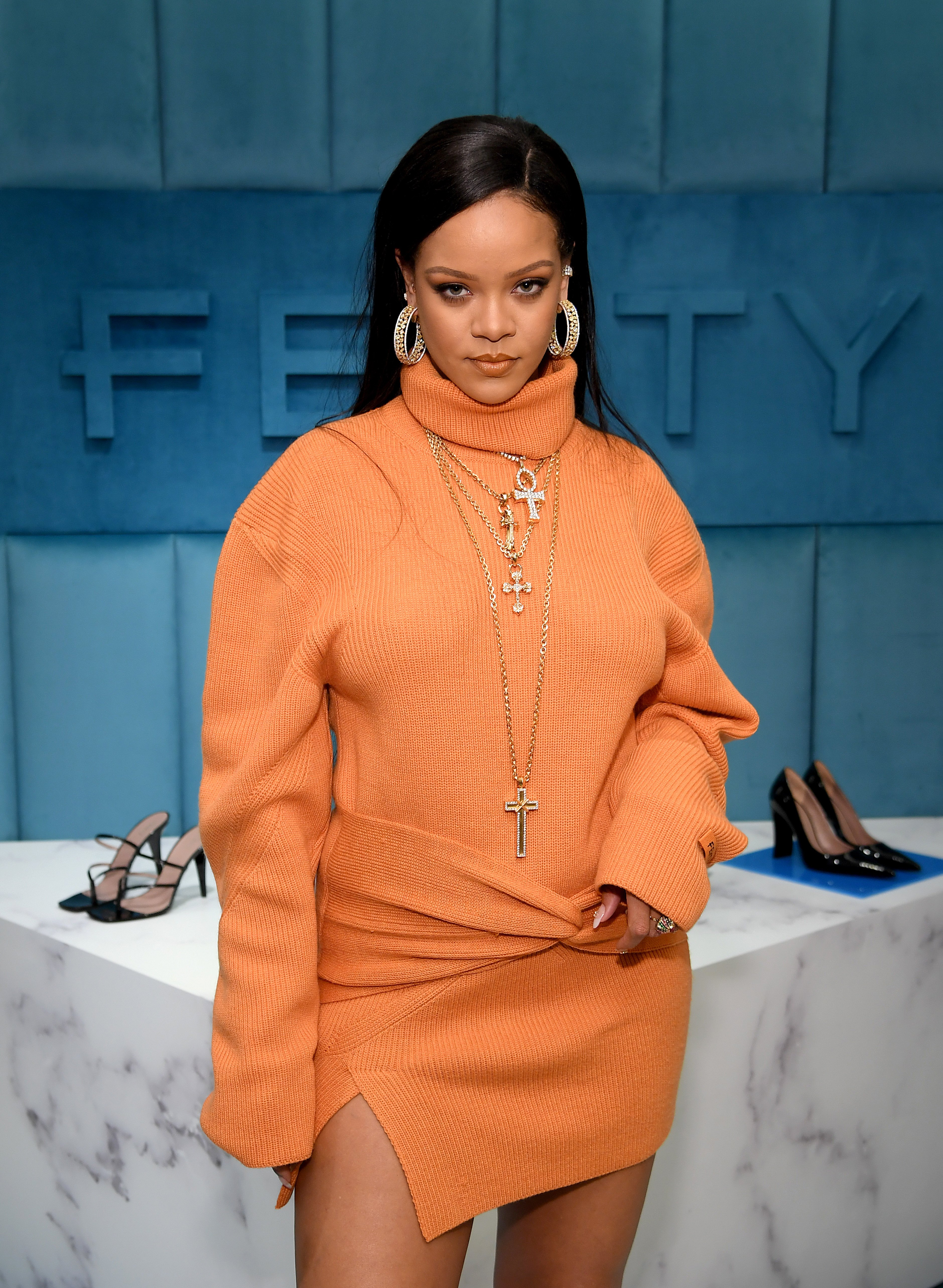Pop star Rihanna and Linda Fargo celebrate the launch of FENTY at Bergdorf Goodman at Bergdorf Goodman on February 07, 2020 in New York City   Photo: Getty Images